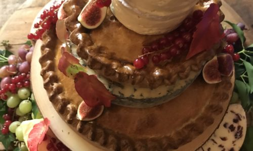 Cheese and Pie Wedding Cake - Perfect served as evening food!